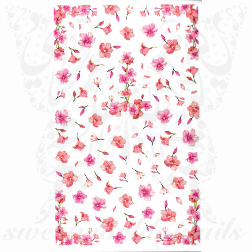 Sakura Bloom Cherry Blossom Flowers Nail Stickers
