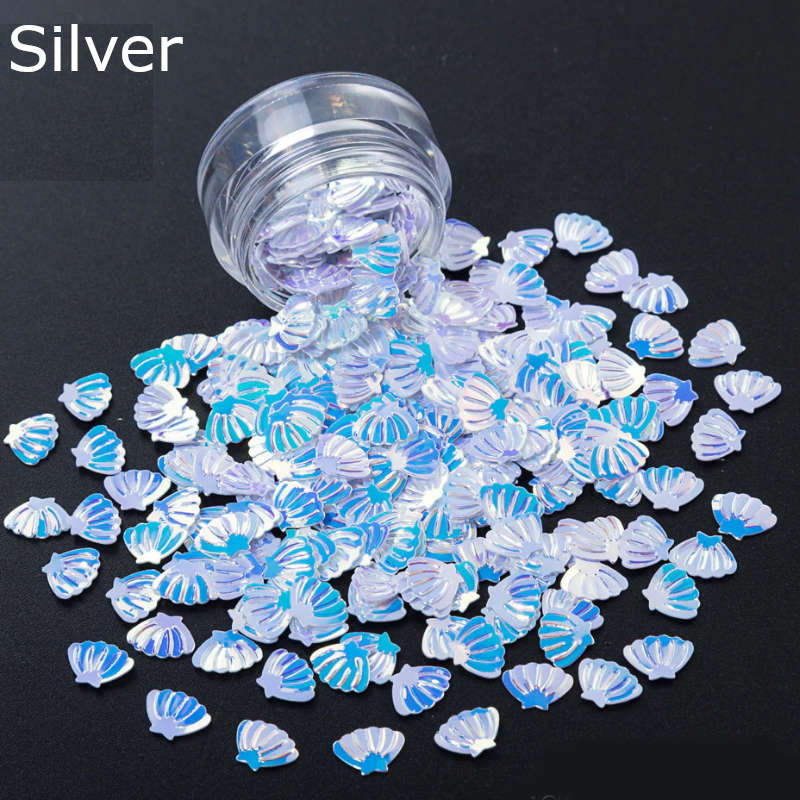 3D Shell Shape Summer Nails Sequins Nail Decoration