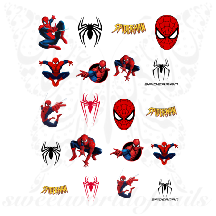Spider-Man Nails Marvel Super Hero Water Decals