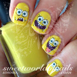 SpongeBob SquarePants Nail Art Nail Water Decals Water Slides