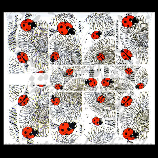 Ladybug Nail Art Nail Water Full Wraps