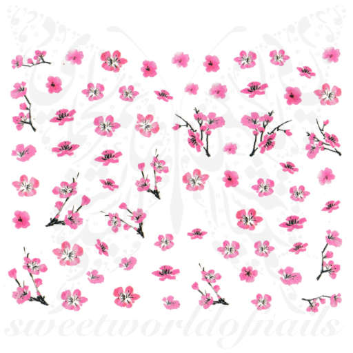 Spring Nails Cherry Blossoms Sakura Flowers Nail Stickers