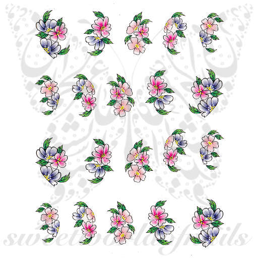 Spring Flowers Nail Art Water Decals