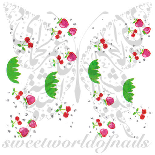 Strawberry Nail Art Nail Water Decals Wraps