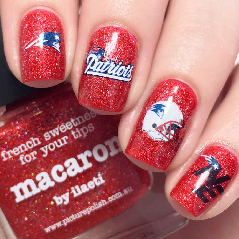 New England Patriots Football Nail Art Water Decals NFL Super bowl