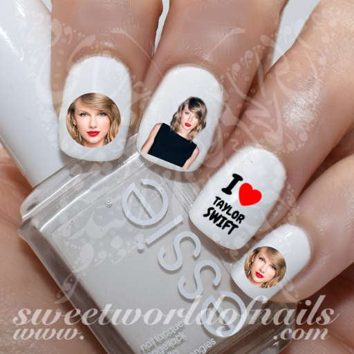 Taylor Swift Nail Art Water Decals