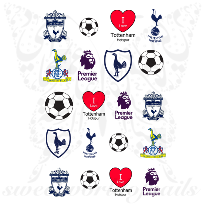 Tottenham Hotspur F.C. Nail Art Premier League Nail Water Decals