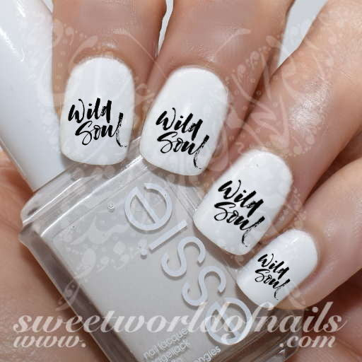 Act Like A Lady Think Like A Boss Nail Art Nail Water Decals Transfers