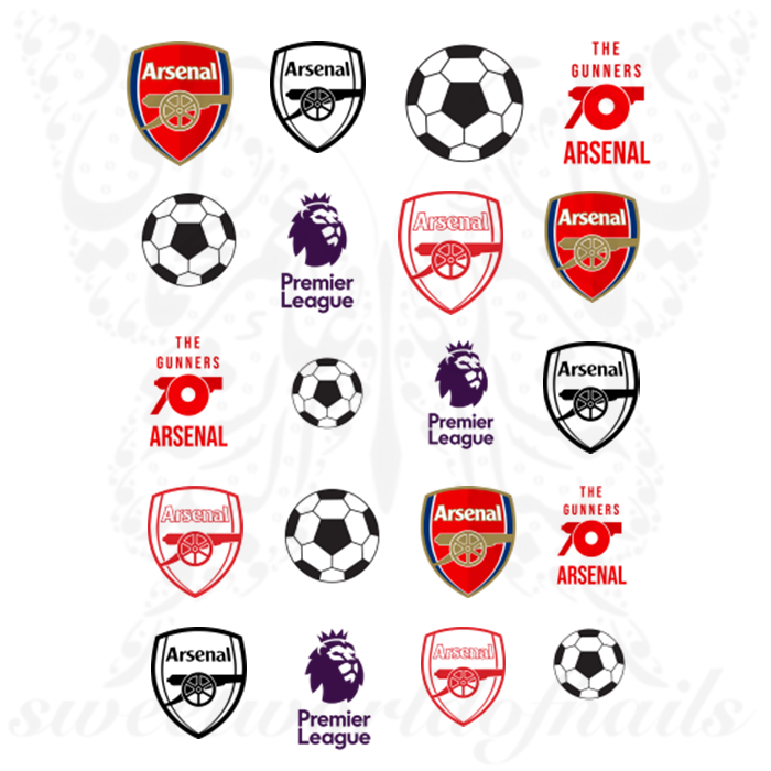 Arsenal F.C. Nail Art Premier League Nail Water Decals