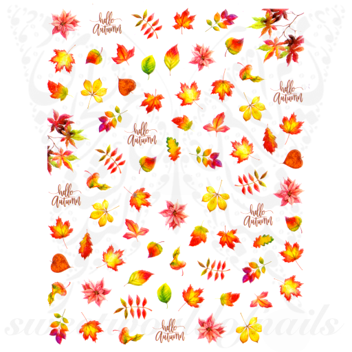 Autumn Nail Art Leaves Stickers