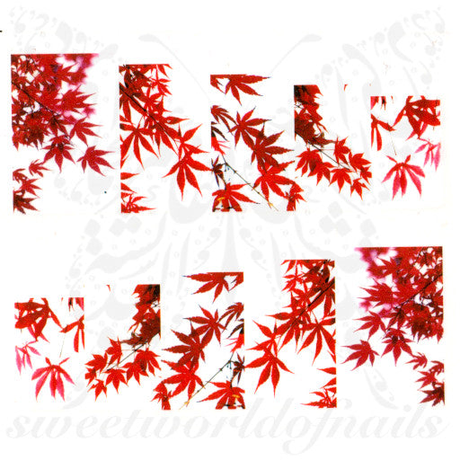 Autumn Leaves Nail Art Water Slides