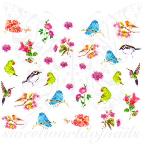 Birds Nail Art Nail Stickers