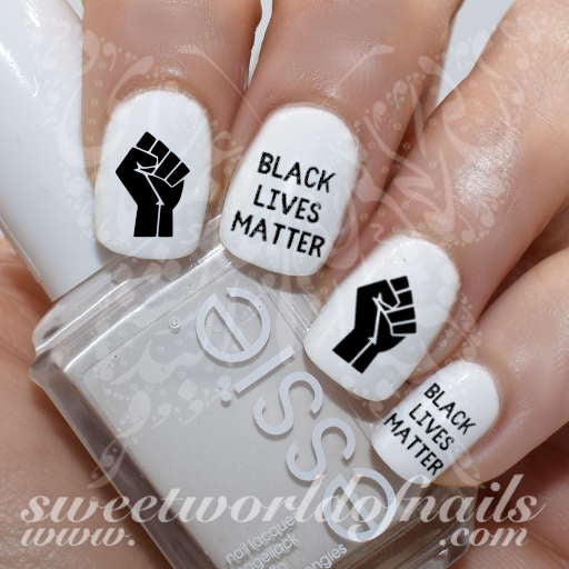 Black Lives Matter Nail Art Water Decals