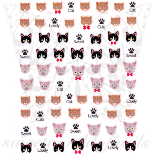 Cat Nail Art Nail Stickers