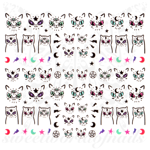Cat Nail Art Water Decals