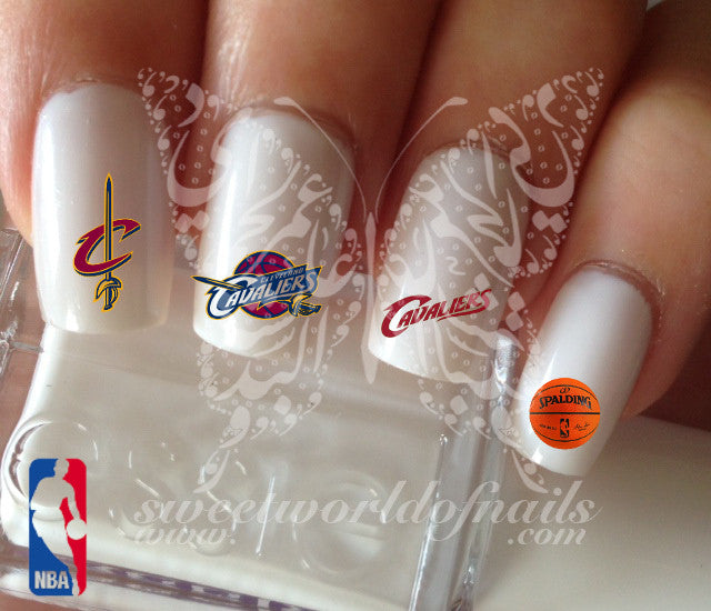 Cleveland Cavaliers NBA Basketball Nail Art Water Decals Nail Transfers Wraps