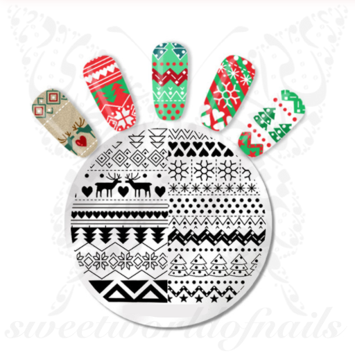 Christmas Pattern Reindeer Nail Stamping Plate