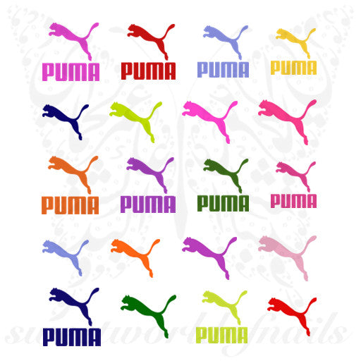 Colorful Puma Nail Art Nail Water Decals
