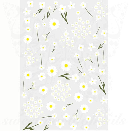 Cute mini spring flowers Nail Art Stickers