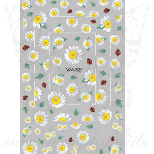 Daisy Nail Art Ladybird Flower Stickers