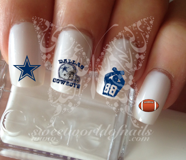 Dallas Cowboys Football Nail Art Water Decals
