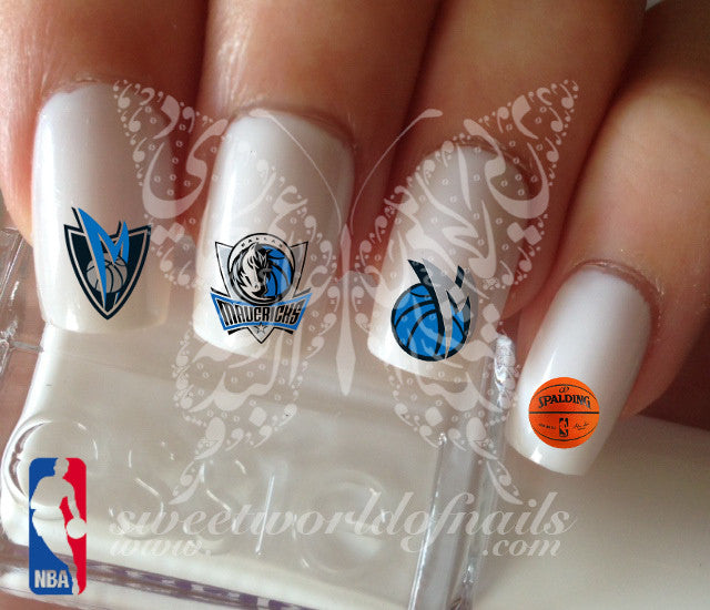 Dallas Mavericks NBA Basketball Nail Art Water Decals Nail Transfers Wraps