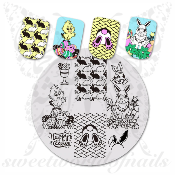 Easter Nail Art Bunny Eggs Nail Stamping Plate