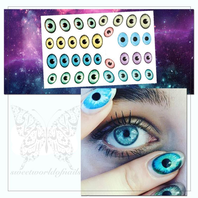 Eye Pupil Nail Art Stickers