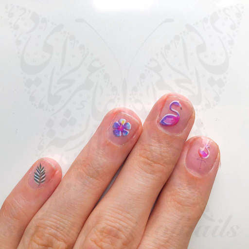Flamingo Nails Nail Water Decals