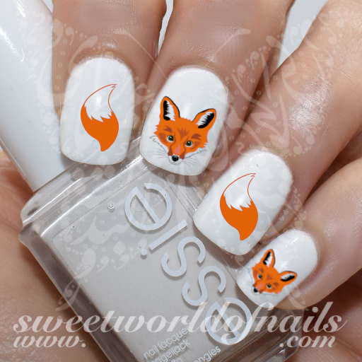 Fox Nail Art Tail Nail Water Decals