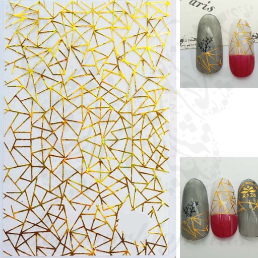 Gold Metallic Shapes Nail Stickers