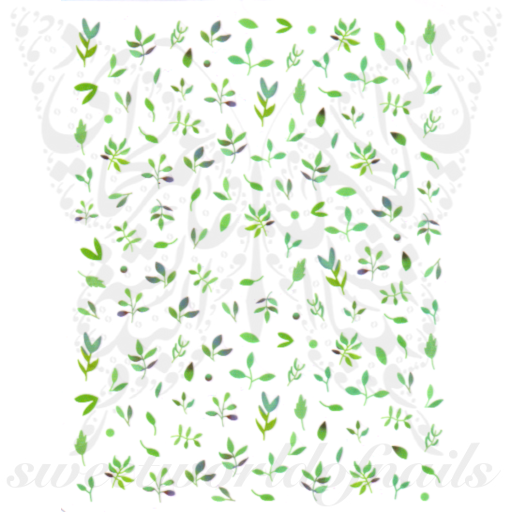 Green Leaves Nail Art Nail Stickers