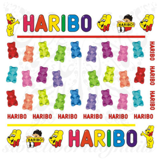Gummy Bears Nail art Haribo Nail Water Decals