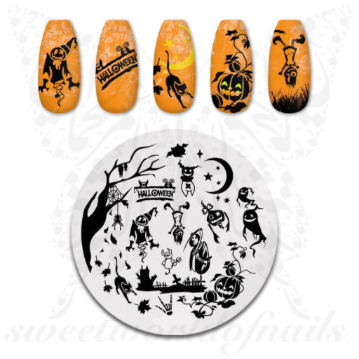 Halloween Scary Nail Stamping Plate
