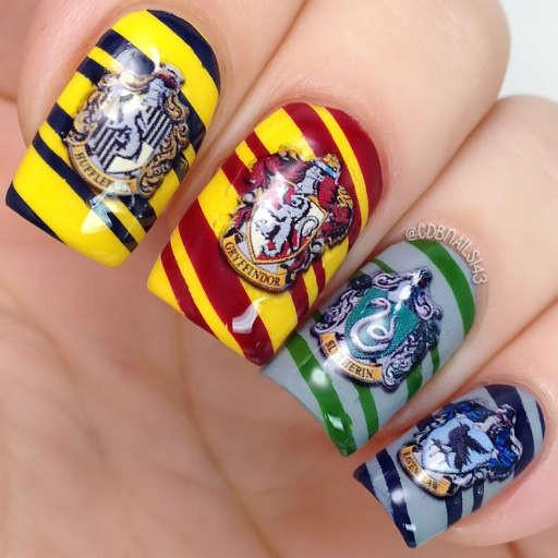 Harry Potter Nail Art Crests Nail Water Decals
