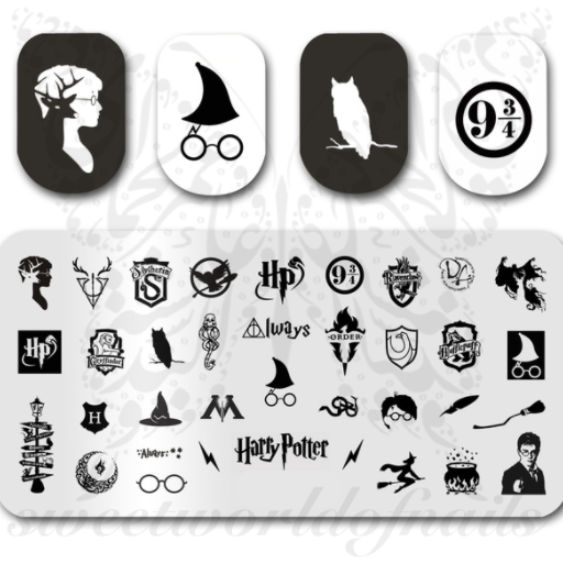 Harry Potter Nail Art Stamping Plate