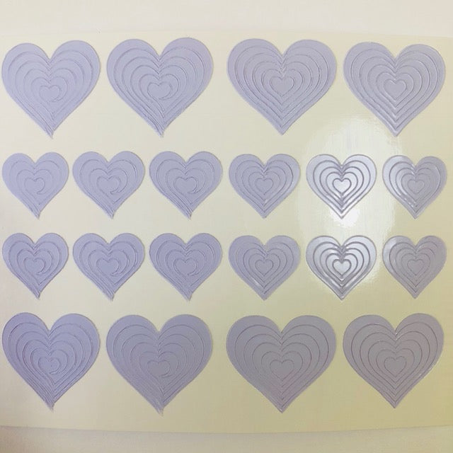 Heart Nail Vinyls Nail Art Stencil Stickers /2 Sheets