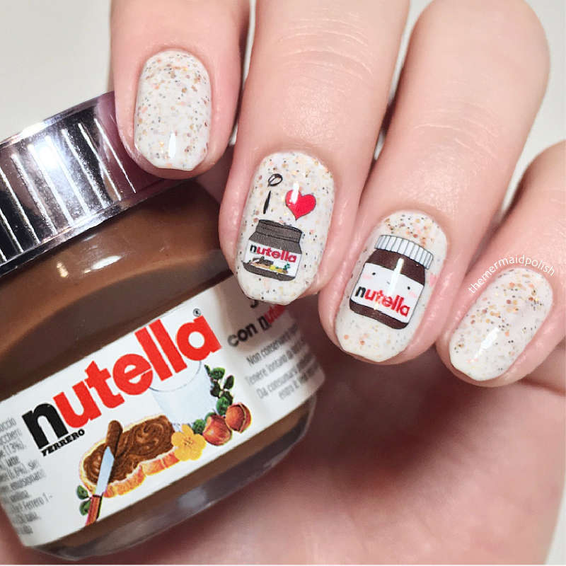 Nutella Nail Art I Love Nutella Chocolate Water Decals Slides