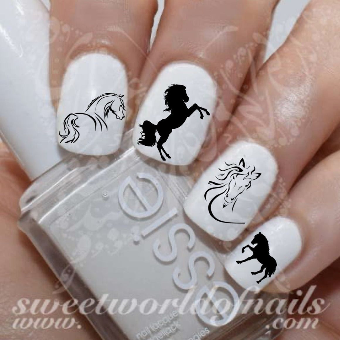 Horse Nail Art Water Decals Transfers Wraps