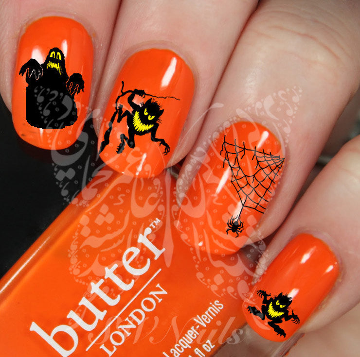 Halloween Nail Art Scary Nail Water Decals