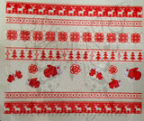 Christmas Nail Art Red Snowflakes Gloves Reindeer Nail Water Decals Water Slides