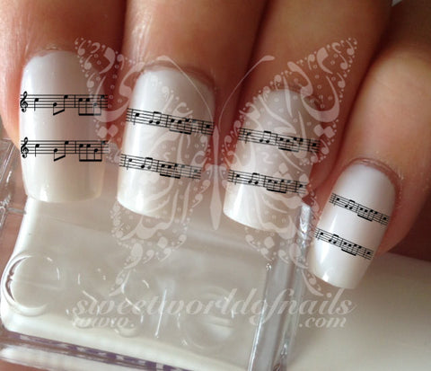 Music Sheet Notes Nail Art Music Notes Nail Water Decals Transfers Wraps