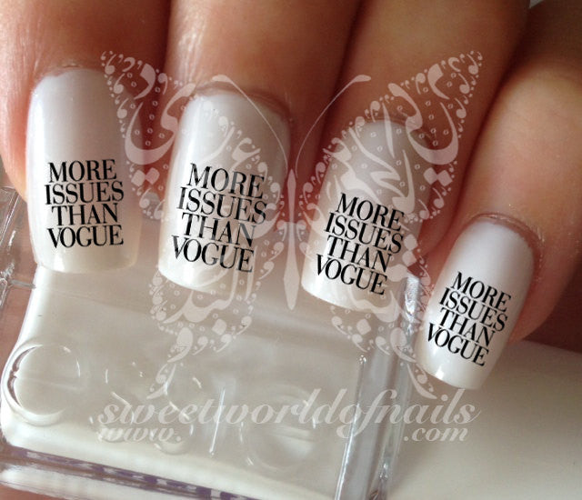 More issues than vogue Nail Art Nail Water Decals Transfers Wraps