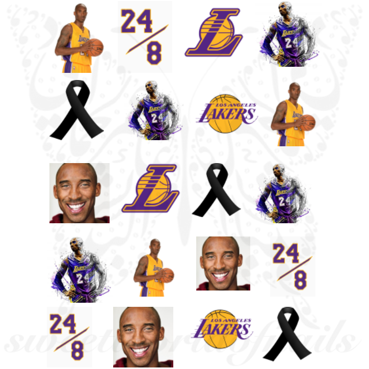 Kobe bryant Nails Los Angeles Lakers Water Decals
