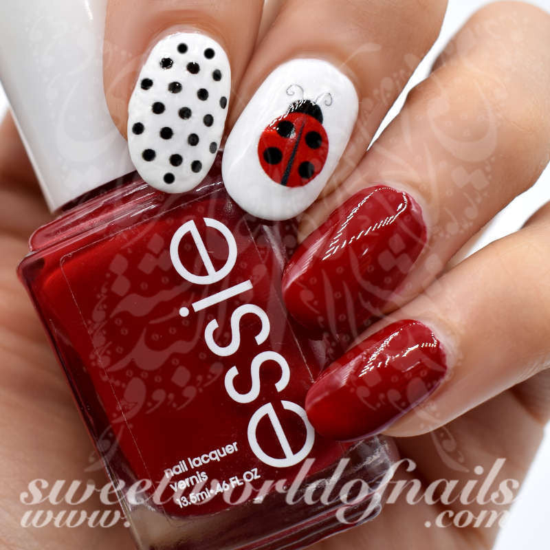 - Ladybug Nail Art Nail Water Decals Slides