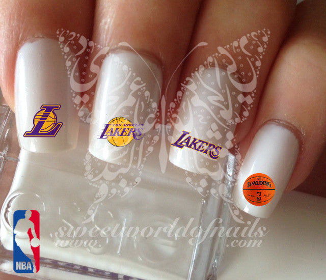 Los Angeles Lakers NBA Basketball Nail Art Water Decals