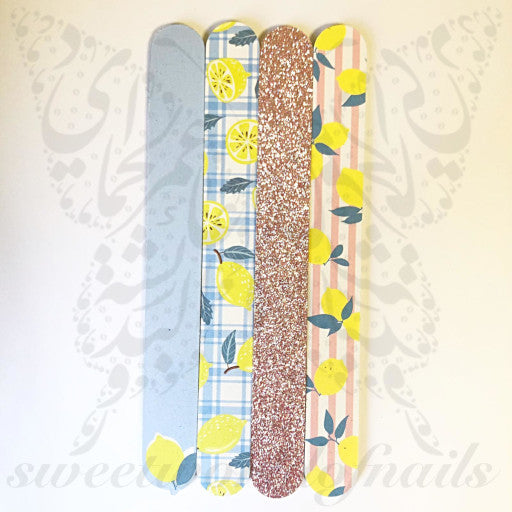 Lemon Nail Files Pack of 4