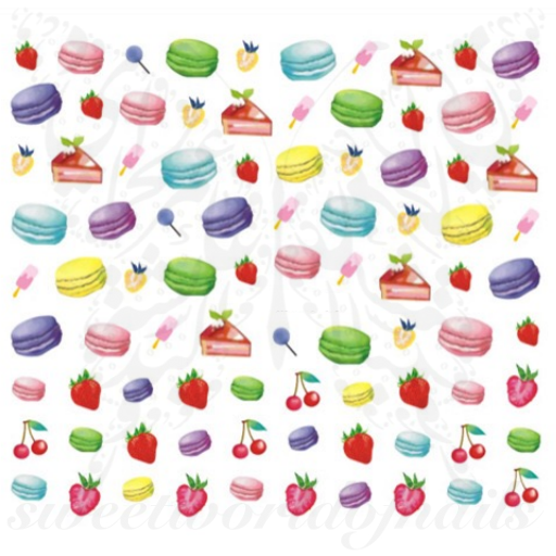 Macarons Nail Art Water Decals
