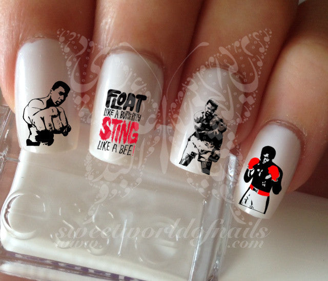 Muhammad Ali Nail water decals transfers