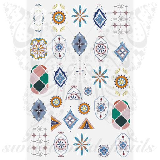 Moroccan style Nail Art Stickers